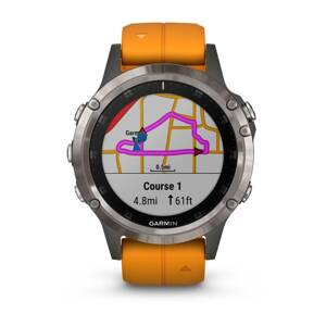 Garmin fénix 5 Plus Sapphire Titanium + Orange Band